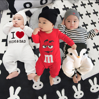 2016 Spring Summer Baby Clothing Cartoon Baby Girl Rompers 100 Cotton Infant Boy Clothes Newborn Wear