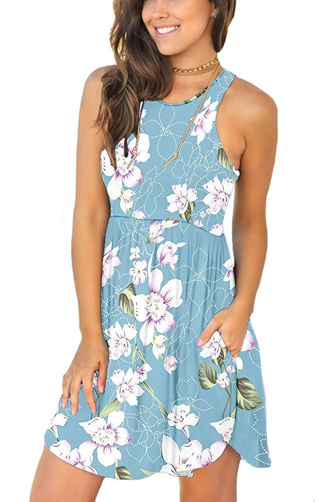 MILLYN IDEAS Women 39 s Sleeveless Loose Plain Dresses Casual Short Dress with Pockets in Dresses from Women 39 s Clothing