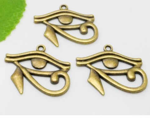 Бесплатная доставка, 10 шт., подвески в античном стиле из серебра с насекомым, египетским глазом хора, 27x33 мм