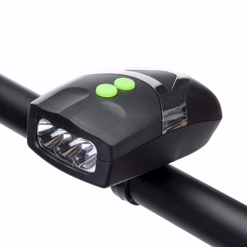 3 LED Велосипедные фары передняя фара Велоспорт лампа велосипед света с Велосипедный Спорт Предупреждение колокол
