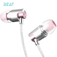 DZAT DR20 In Ear Earbud Earphone HiFi Stereo Metal Headset Fone De Ouvido With Mic For