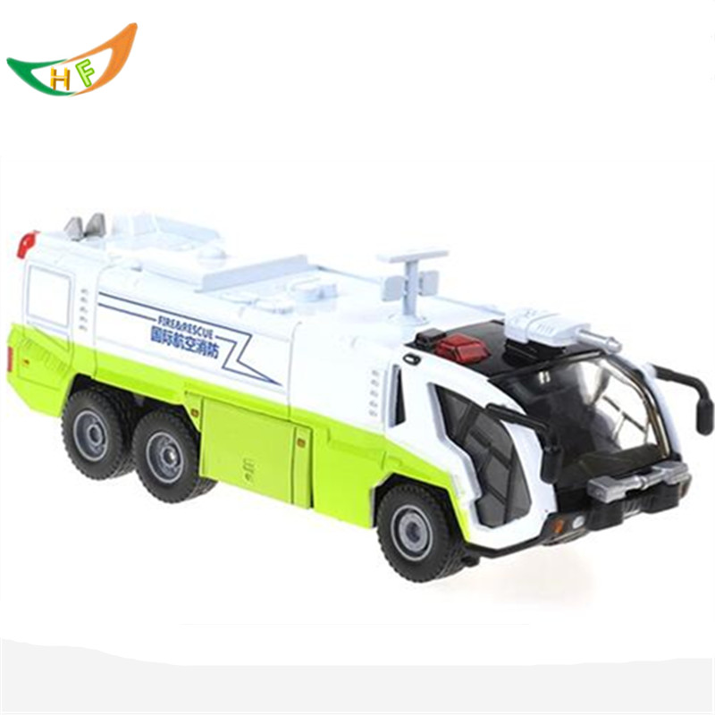 Kaidiwei new brinquedos boys 1:50 Acoustooptical rescue vehicles water gun fire truck alloy toy car model kids Christmas gift