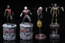 6.5 cm Marvel Avengers Ant Man 2 Captain America Civil War PVC Action Figure Toys Tiny Antman Collectible Model Toy
