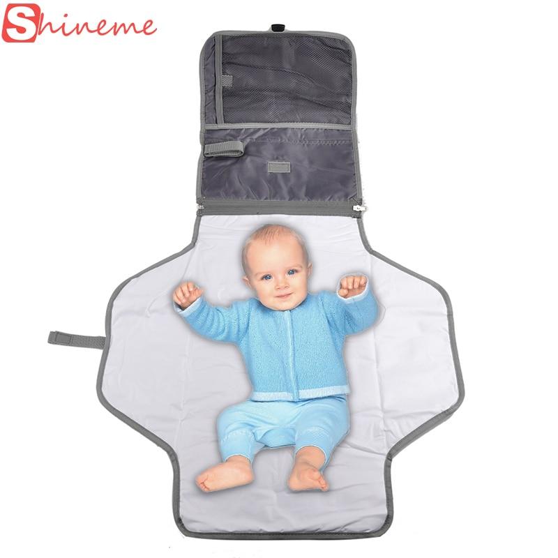 Große Größe tragbare Wickeltischwindel Windel Wickelauflage Matte wasserdichtes Blatt Baby Pflegeprodukte Reisen