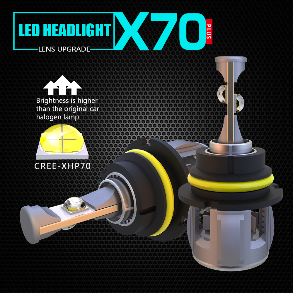 1 Set 9004 HB1 9007 HB5 120W 15600LM XHP 70 Lens 4SMD Chips X70 LED Headlight