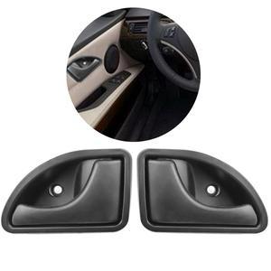 Image 1 - 2 Pcs/set Car Inner Handle Interior Door Panel Pull Trim Cover Black Left Right For RENAULT KANGOO TWINGO