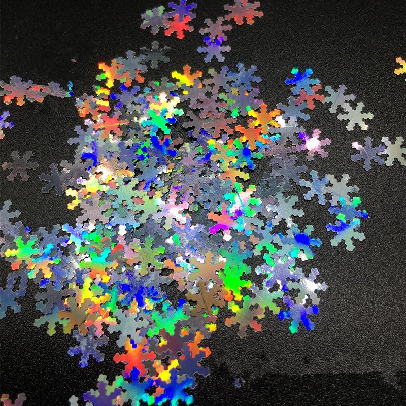 snowflake sequins glitter