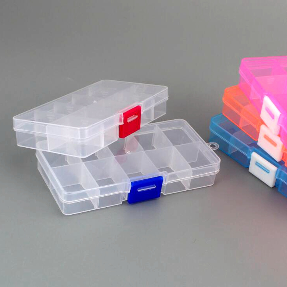 1pcs Multifunctional High Resistance 13 * 6* 3cm With Transparent Visible Strength Plastic Fishing Lure  Fishing Tackle Bait Box