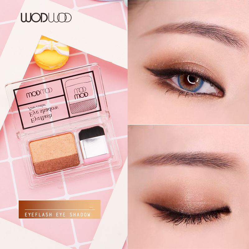 Liberal Wodwod Duo Color Easy Makeup Eyeshadow Palette Shimmer Matte High Pigment Sunset Eyeshadow Make Up Smoky Gold Brown Eyeshadow Demand Exceeding Supply Beauty & Health