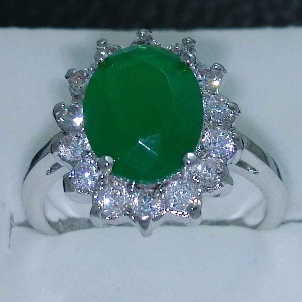 ร้อนขาย>@@ 0x Size6-9หยกแต่งงานหมั้นแหวนเจ้าหญิง-เจ้าสาวเครื่องประดับจัดส่งฟรี