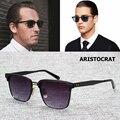 2016 Nueva Moda ARISTÓCRATA Viajero Estilo de Diseño de Marca de Aleación de Metal gafas de Sol de Los Hombres Gafas de Sol Gafas de Sol Masculino 1850