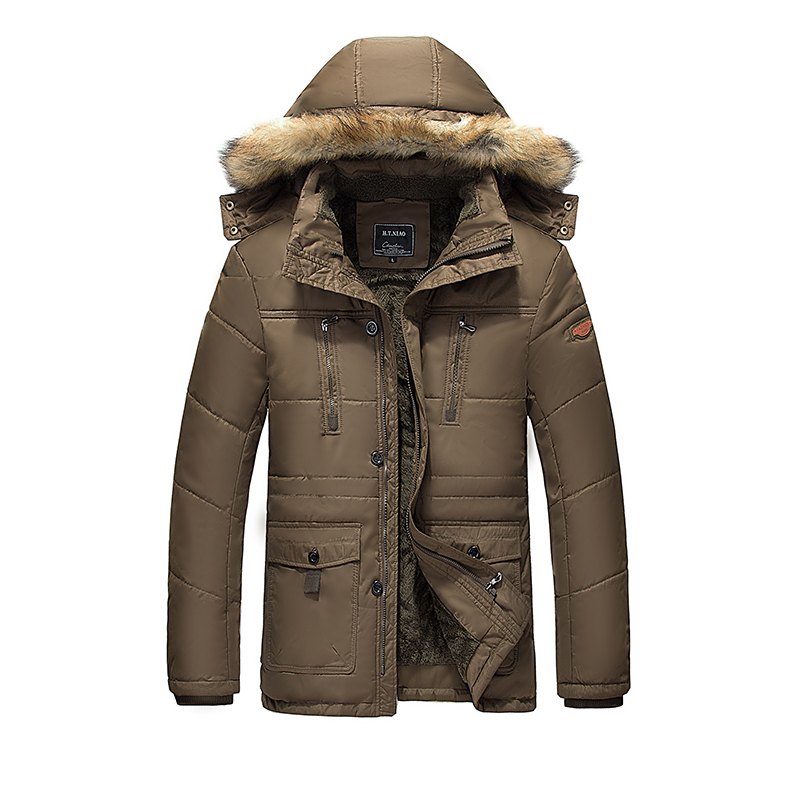 Men Long Parkas Cotton Winter Jackets Coats Zipper Men s Casual Fashion Slim Fit Jackets Coats