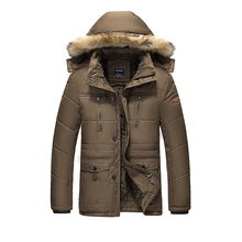 Men Long Parkas Cotton  Winter Jackets Coats Zipper Men's Casual Fashion Slim Fit  Jackets Coats Outwear Male warm coat