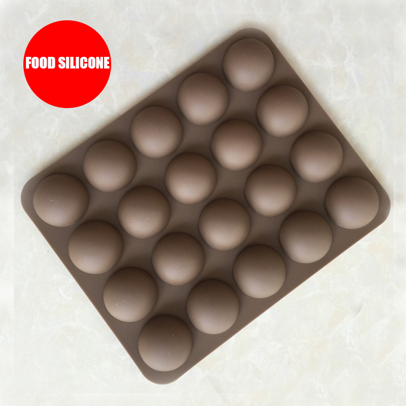 20 Hole Half Semi Round Bakeware Chocolate Gummy Soap Silicone Mold Half Ball Sphere Hemisphere Cake Tools in Cake Molds from Home Garden