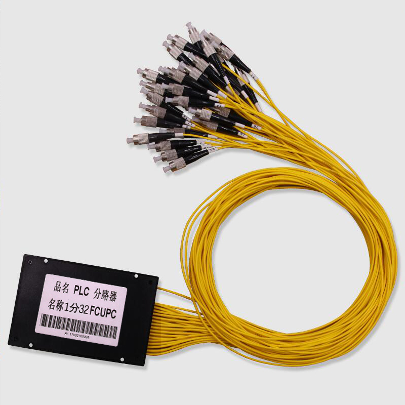 Livraison gratuite ABS boîte Fiber optique PLC séparateur 1x32 FC/UPC connecteur 2.0mm 1 m