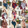 Winter Scarf Women & Men's Plaid Cashmere Scarf Wrap Unisex Scarf Warm Pashmina Shawls and Woman Scarves Long Shawl For Friends