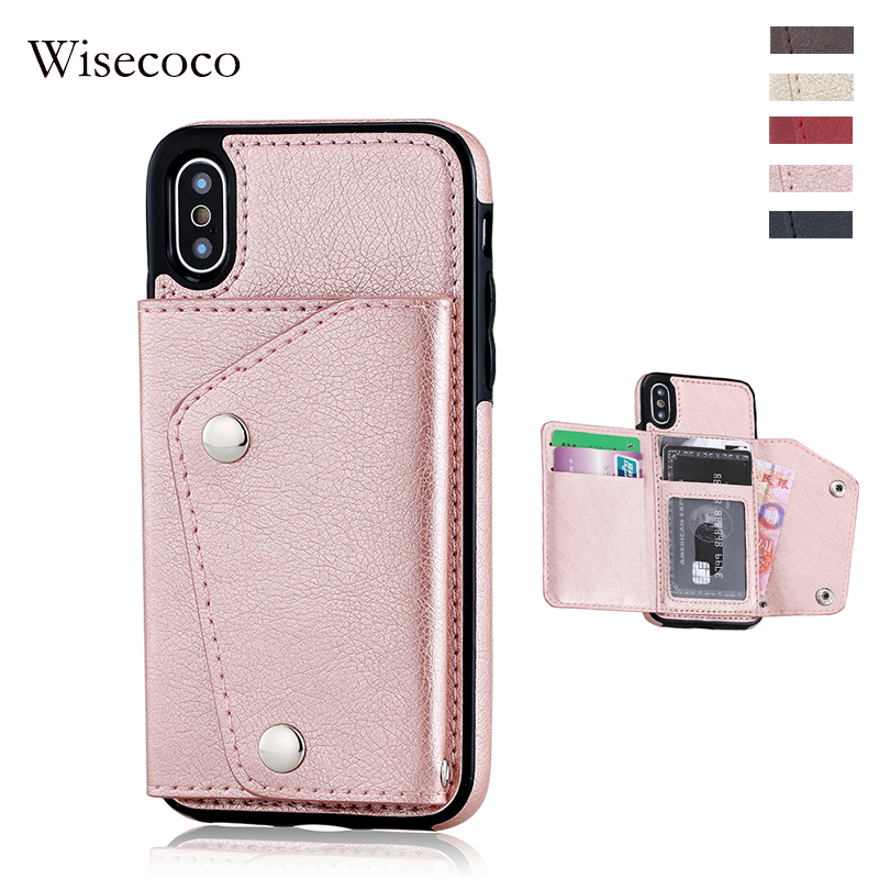 Folio <font><b>case</b></font> for iPhone X 6 7 8 plus Wallet Cover Genuine Leather Luxury Flip hoes for iPhone X <font><b>Cases</b></font> with <font><b>Card</b></font> Slots holder coque image