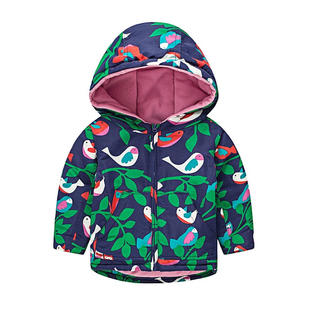 M58 Fashion Birdie Spring Autumn Child Thicken Padded Lining Jacket Hoodies Keep Warm Boy Girl Coat Tops Outwear Windbreaker itx m58
