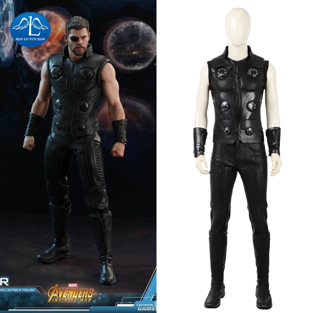 2018 Avengers Infinity War Cosplay Costume Thor Odinson Costume Superhero Cosplay Costume Halloween Costume For Men Full Set