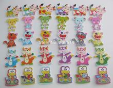 WBNAKN Mix patterns colors Lovely animal Buttons for baby clothes sewing accessories 150pcs/lot children Button wooden