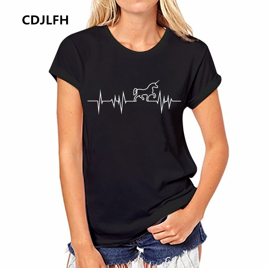 cdjlfh 4 color plain t shirt women cotton elastic t shirts female casual tops lovely horse. Black Bedroom Furniture Sets. Home Design Ideas