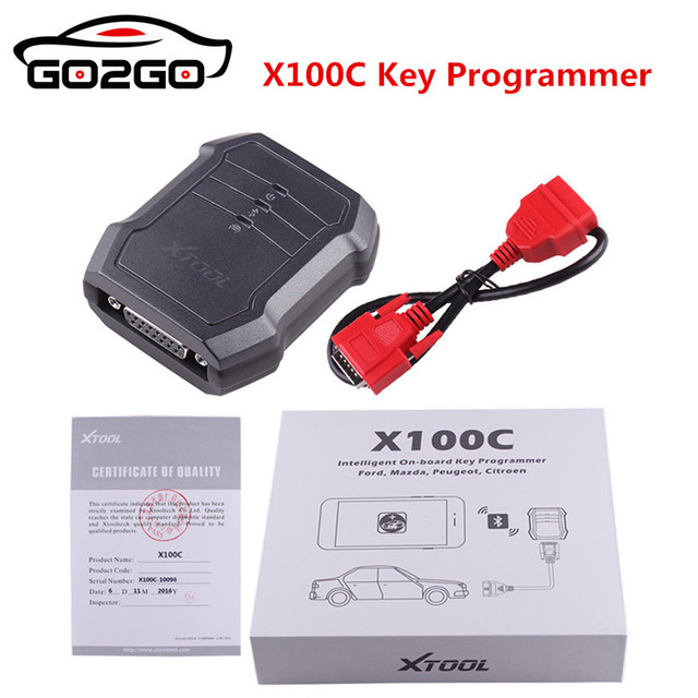 Hot XTOOL X100C Auto Key Programmer for Ford/for Mazda/for Peugeot/for Citroen 4 in 1 pin code reader better than F100 F108 F102