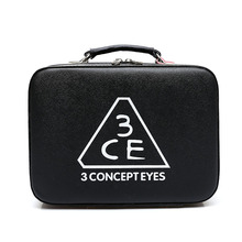 Hot Selling Korean Fashion Women Leather Portable Brief Cosmetic Cases Professional Makeup Bag Multifunctional Storage