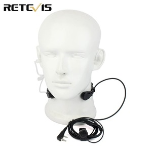 Image 2 - 2 Pin גרון מיקרופון PTT אוזניות עבור KENWOOD TYT BAOFENG UV 5R BF 888S UV 5R Retevis H777 RT5R חזיר רדיו ווקי טוקי C9026A