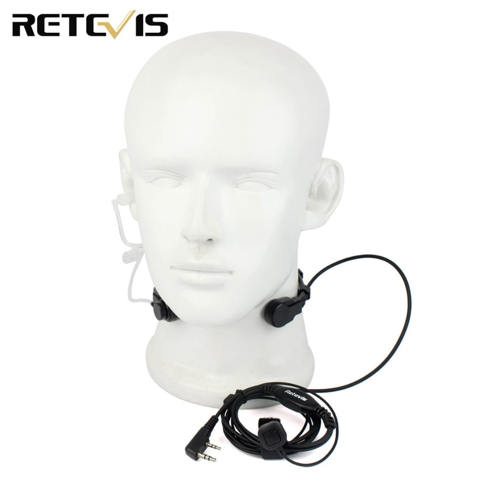 Throat Microphone Wiring Diagram Electrical 2 Pin Mic Ptt Headset For Kenwood Baofeng Bf 888s Uv 5r