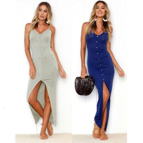 Women Sexy Boho Long Maxi Evening Party Beach Dress Sundress