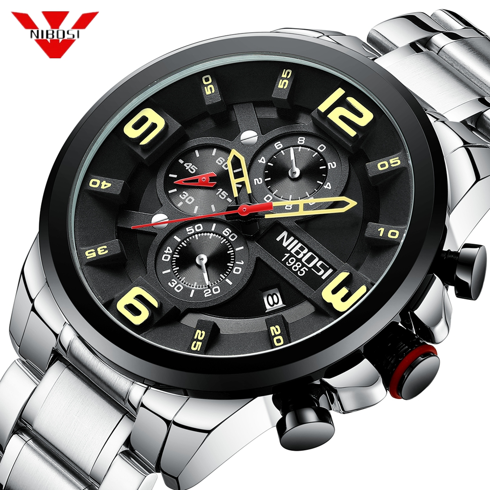 NIBOSI Brand Original Unique Design Men Wristwatch Wide Big Dial Casual Quartz Watch Men Male Sport Watches Relogio MasculinoNIBOSI Brand Original Unique Design Men Wristwatch Wide Big Dial Casual Quartz Watch Men Male Sport Watches Relogio Masculino