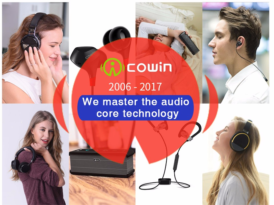 Cowin HE8 Active Noise Cancelling ANC Wireless Bluetooth Earphone Sports In Ear Earphones for phone OTG charging