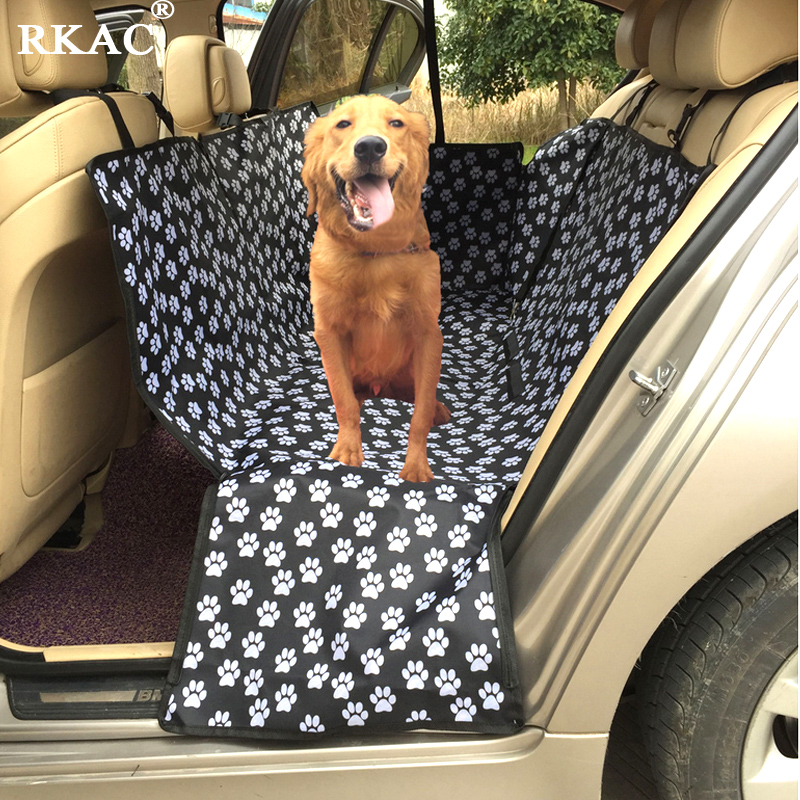 Sporting Rkac Footprint Dog Carriers Waterproof Rear Back Pet Dog Car Seat Cover Mats Hammock Protector With Safety Belt Seat Supports Seat Supports
