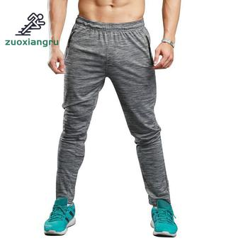 Zuoxiangru Summer Fitness Sport Pants Men Elastic Breathable Sweatpants Running Training Pants Gym Basketball Trousers Plus Size
