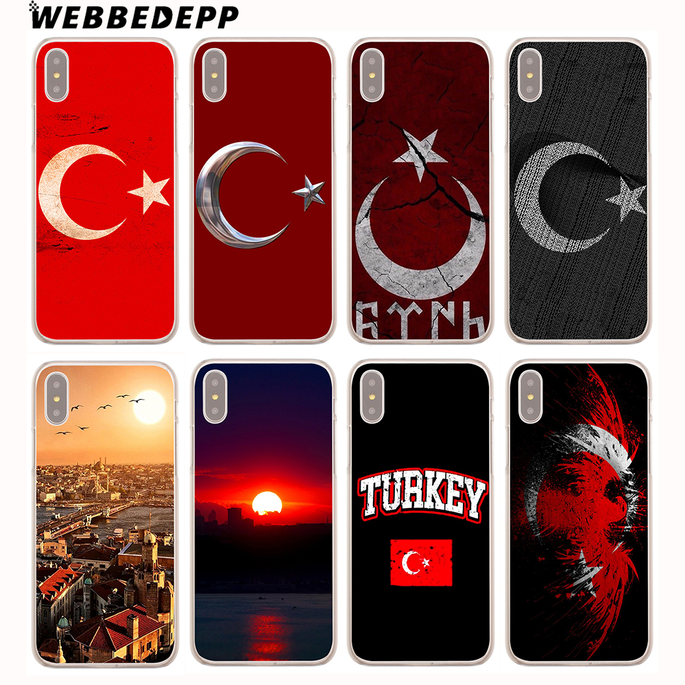 WEBBEDEPP Typography Flag of Turkey Antalya Hard Cover Case for iPhone 8 7 6S Plus X/10 5 5S SE 5C 4 4S