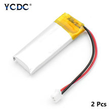 YCDC 2Pcs 3.7V 130mAh Lipo Battery 501230 For MP3 Bluetooth Headset Camera Pen(China)