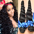 7A Unprocessed Peruvian Looose Wave One Bundles Peruvian Virgin Hair Loose Wave  Human Hair Weave Rosa Hair Products Loose Wave