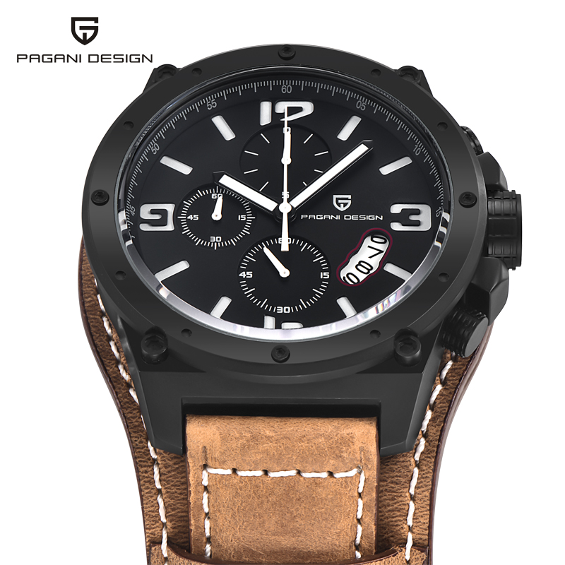 Relogio Masculino Watches Men Dress Luxury Brand Pagani Genuine Leather Quartz Watch Multifunctional Fashion Men's Sports Clock 2016 relogio masculino watches men luxury brand pagani genuine leather quartz watch multifunctional fashion men s sports clock