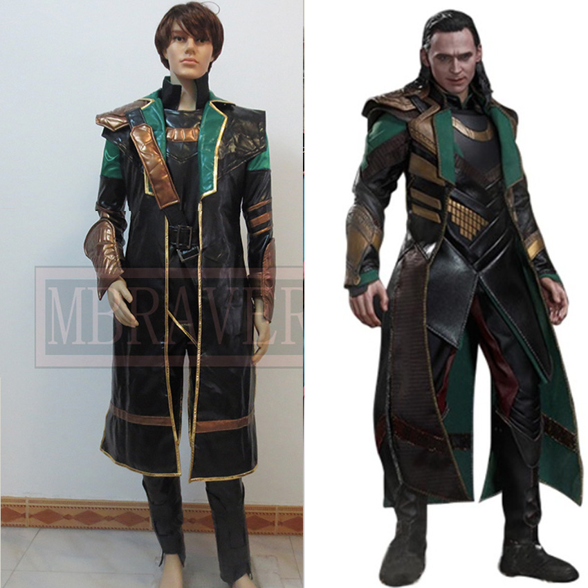 Thor The Dark World Loki Cosplay Costume The Avengers Age of Ultron Superhero Outfit for Halloween Party new marvel the avengers age of ultron captain america cosplay costume steve rogers outfits adult superhero costume