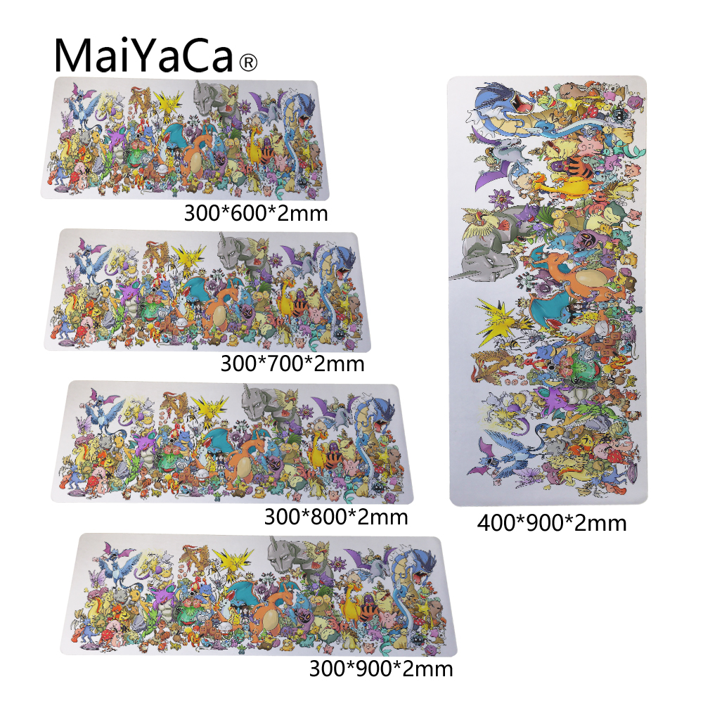 MaiYaCa Wallpapers Art Game Speed Keyboard Mouse Pad Rubber Mat Computer Gaming Mousepad Gamer for Large Size Table Mouse Mat