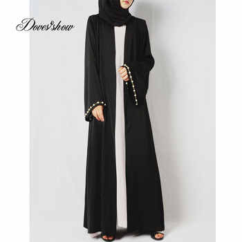 Beading Muslim Dress Abaya in Dubai Islamic Clothing Women Jilbab Djellaba Robe Musulmane Turkish Baju Robe Kimono Kaftan - DISCOUNT ITEM  28% OFF All Category