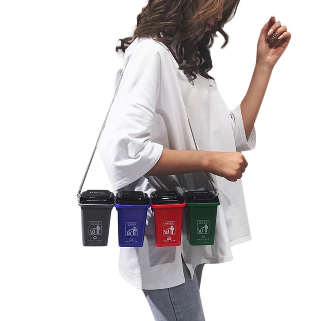 Women's Bags Chain Sorting Trash Crossbody-Bags -3 Can-Bag Bag-Garbage Bag-Garbage