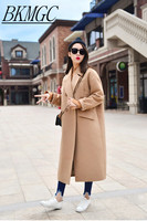 X Long Oversized Coat With Pad Lining Warm Thick Casual Overcoat New Women S Camel Wool