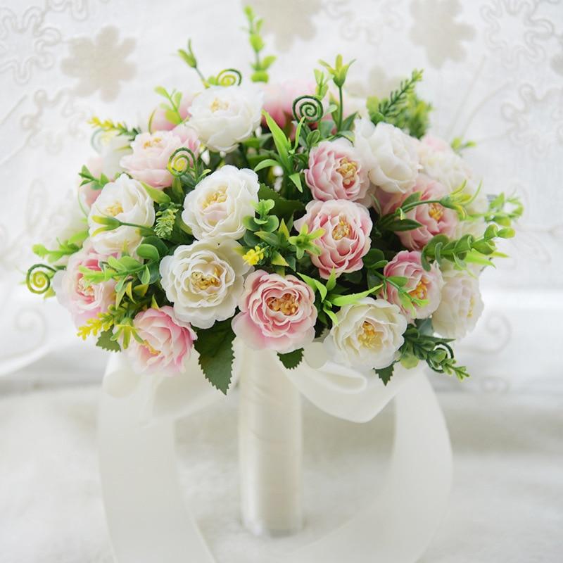 Braut Blumen Bouquet Hochzeit Bouquet Künstliche Blumen Für Brautjungfern Rosa Seide Braut Bouquets De Mariage Bruidsboeket S4 Produkte HeißEr Verkauf