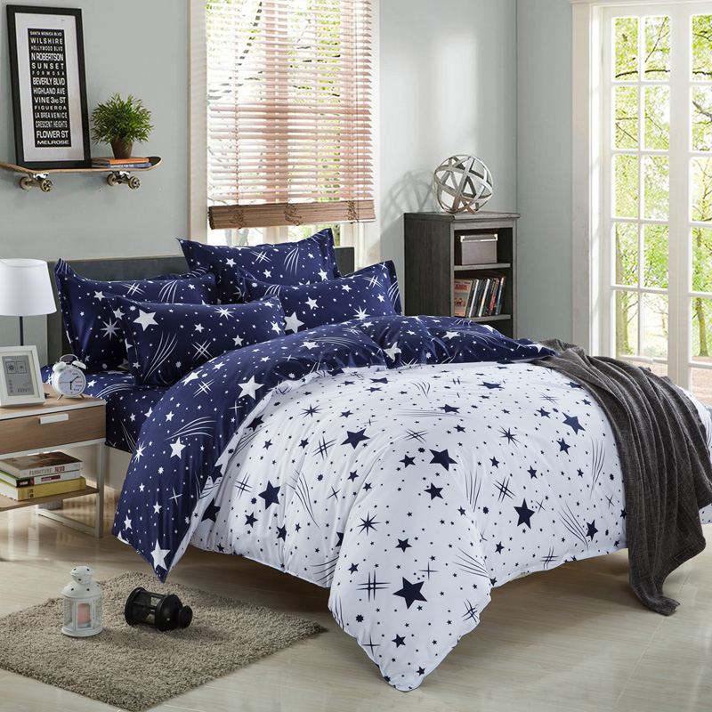 Duvet Cover Pillow Case Quilt Cover Bed Set Single Double
