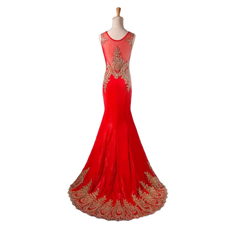 Лидер продаж, элитное вечернее платье, просвечивающее сзади, торжественное платье, Золотое платье с аппликацией, vestidos de festa, с блестящими кристаллами