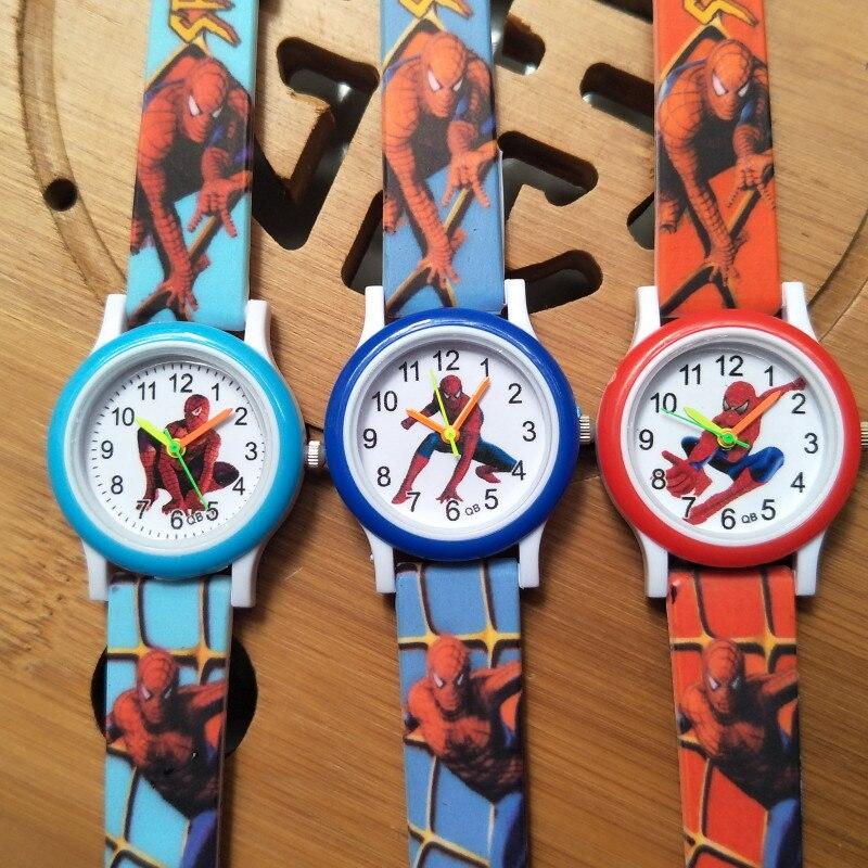 2020 NEW Printed Strap Spiderman Children Watch Boys Clock Gifts Child Waterproof Analog Sports Watch Kids Bracelet Wristwatches