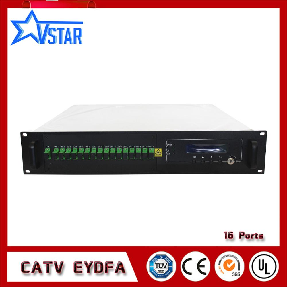 CATV EDFA Multi Porte Ad Alta Potenza EDFA Amplificatore Ottico 16 * 22dBm
