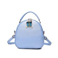 Модная Корейская версия круглая сумка девушка просто тенденция школа новые повседневные женские PU небольшой рюкзак