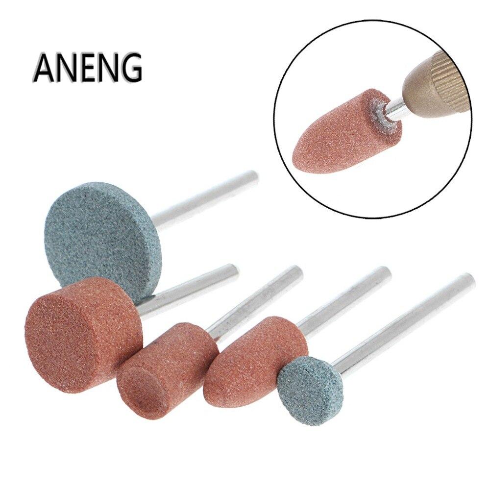 ANENG 5Pcs 3mm Shank Wheel Head Grinding Polishing Electric Grinder Power Tool